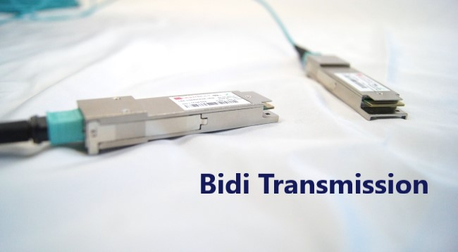 "text displaying ""Bidi Transmission"" with BiDi trasnceiver"