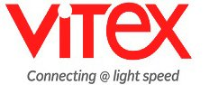 logo saying Vitex : Connecting at light speed